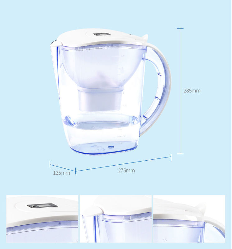 Desktop Plastic Brita Maxtra Water Pitcher , Alkaline Water Filter Jug White Color